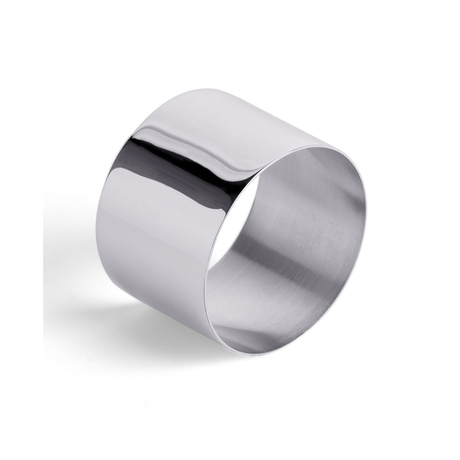 Sterling Silver Straight Edge Napkin Ring
