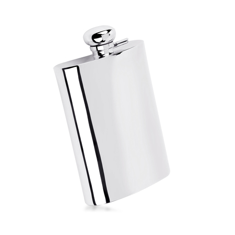 Silver Plate 7oz Flask