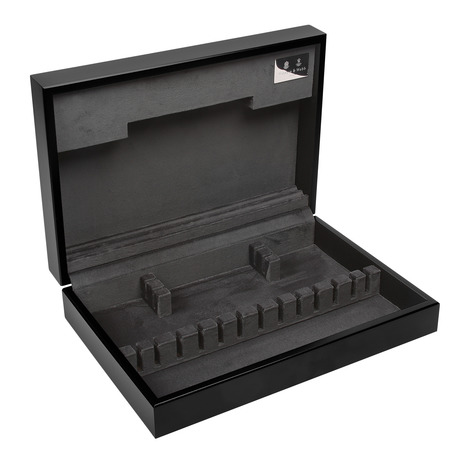 Contemporary Black Grey Wooden Canteen