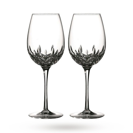 Waterford Lismore Essence Pair Of White Wine Glasses
