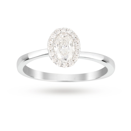 9 Carat White Gold 0.29 Carat Diamond Ring