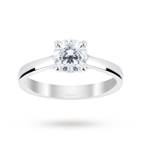 For Her - Platinum 1.00 Carat Diamond Solitaire Ring - M06016688