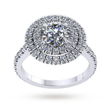 Alba Platinum 0.86cttw Diamond Engagement Ring