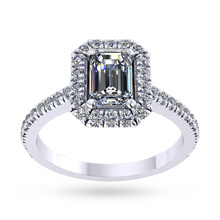 Mappin & Webb Amelia Engagement Ring With Diamond Band 0.50 Carat Total Weight