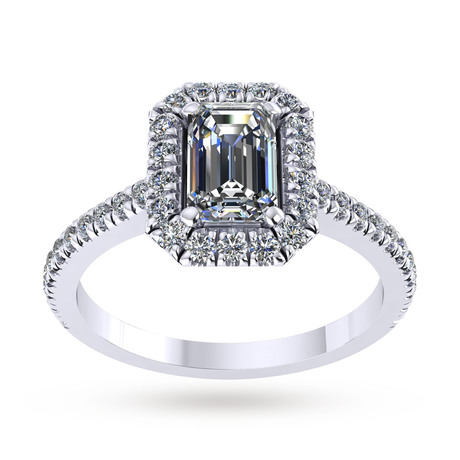 For Her - Mappin & Webb Amelia Engagement Ring With Diamond Band 0.50 Carat Total Weight - M06016586