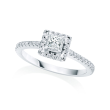 Amelia Platinum 0.50cttw Diamond Engagement Ring