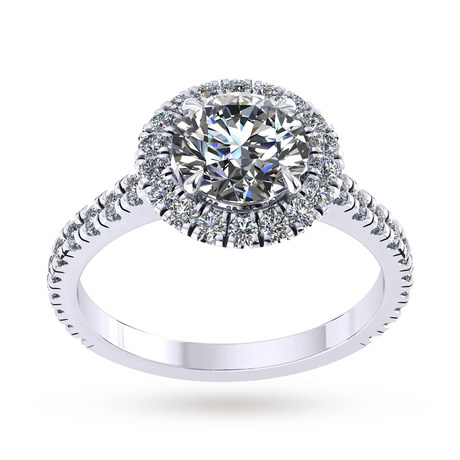 Amelia Platinum 1.45cttw Diamond Engagement Ring