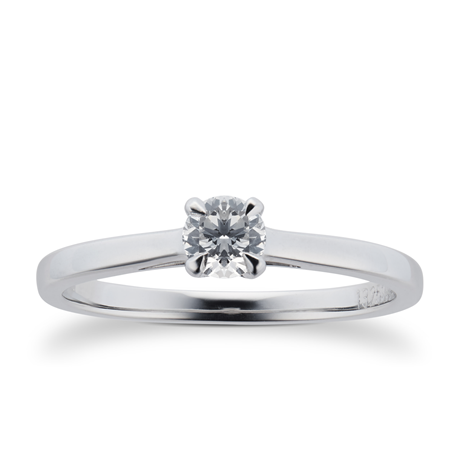 Belvedere Platinum 0.33ct Diamond Engagement Ring