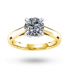 Belvedere 18ct Yellow Gold 0.85ct Diamond Engagement Ring