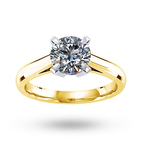Belvedere 18ct Yellow Gold 0.60ct Diamond Engagement Ring