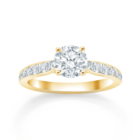 Boscobel 18ct Yellow Gold 0.42cttw Diamond Engagement Ring