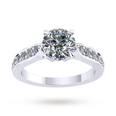 Boscobel Platinum 0.42cttw Diamond Engagement Ring