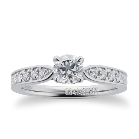 Boscobel Platinum 0.71cttw Diamond Engagement Ring
