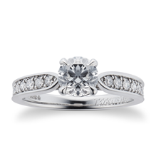 Boscobel Platinum 0.96cttw Diamond Engagement Ring