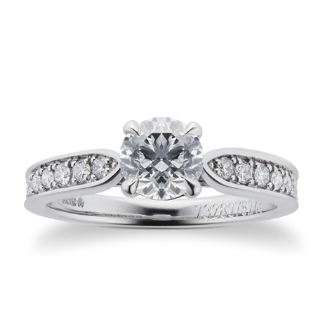 Mappin & Webb Boscobel Platinum 0.96cttw Diamond Engagement Ring