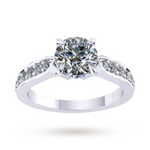 Boscobel Engagement Ring With Diamond Band 1.21 Carat Total Weight