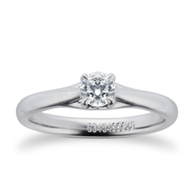Ena Harkness Platinum 0.33ct Diamond Engagement Ring