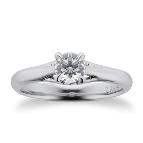 Ena Harkness Platinum 0.50ct Diamond Engagement Ring
