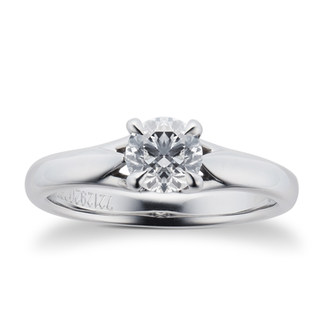 Ena Harkness Platinum 0.70ct Diamond Engagement Ring