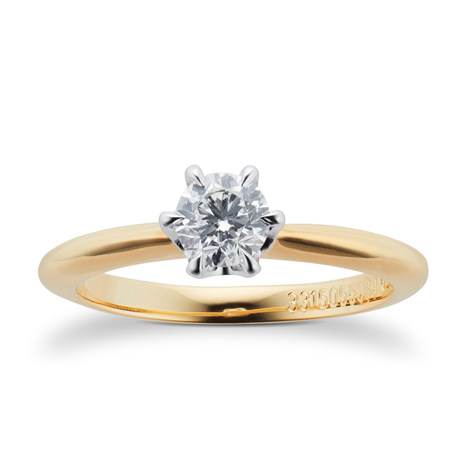 Mappin & Webb Hermione 18ct Yellow Gold 0.50ct Diamond Engagement Ring