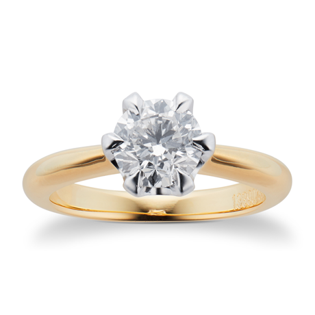 Hermione 18ct Yellow Gold 1.00ct Diamond Engagement Ring