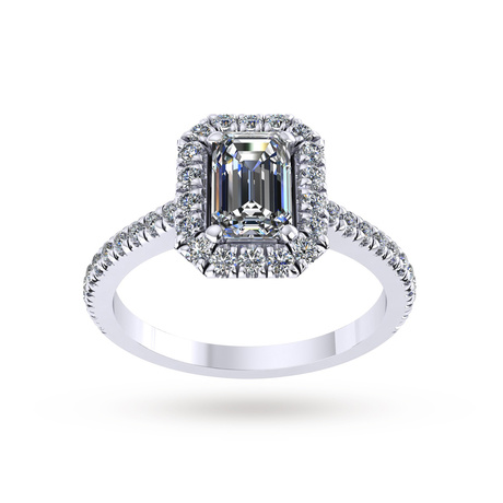 Mappin & Webb Amelia Engagement Ring With Diamond Band 0.90 Carat Total Weight