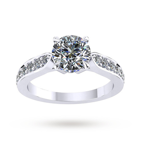 For Her - Mappin & Webb Boscobel Engagement Ring With Diamond Band 0.37 Carat Total Weight - M06016599