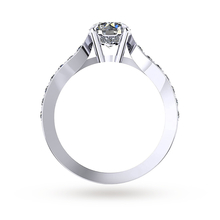 Mappin & Webb Boscobel Engagement Ring With Diamond Band 0.71 Carat Total Weight