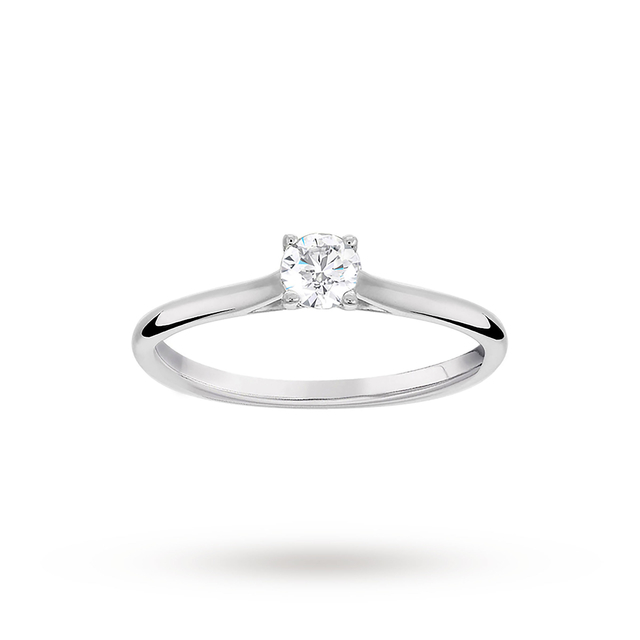 Brilliant Cut 0.25ct 4 Claw Diamond Solitaire Ring In 9ct ...