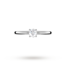 Brilliant Cut 0.25ct 4 Claw Diamond Solitaire Ring In 9ct White Gold