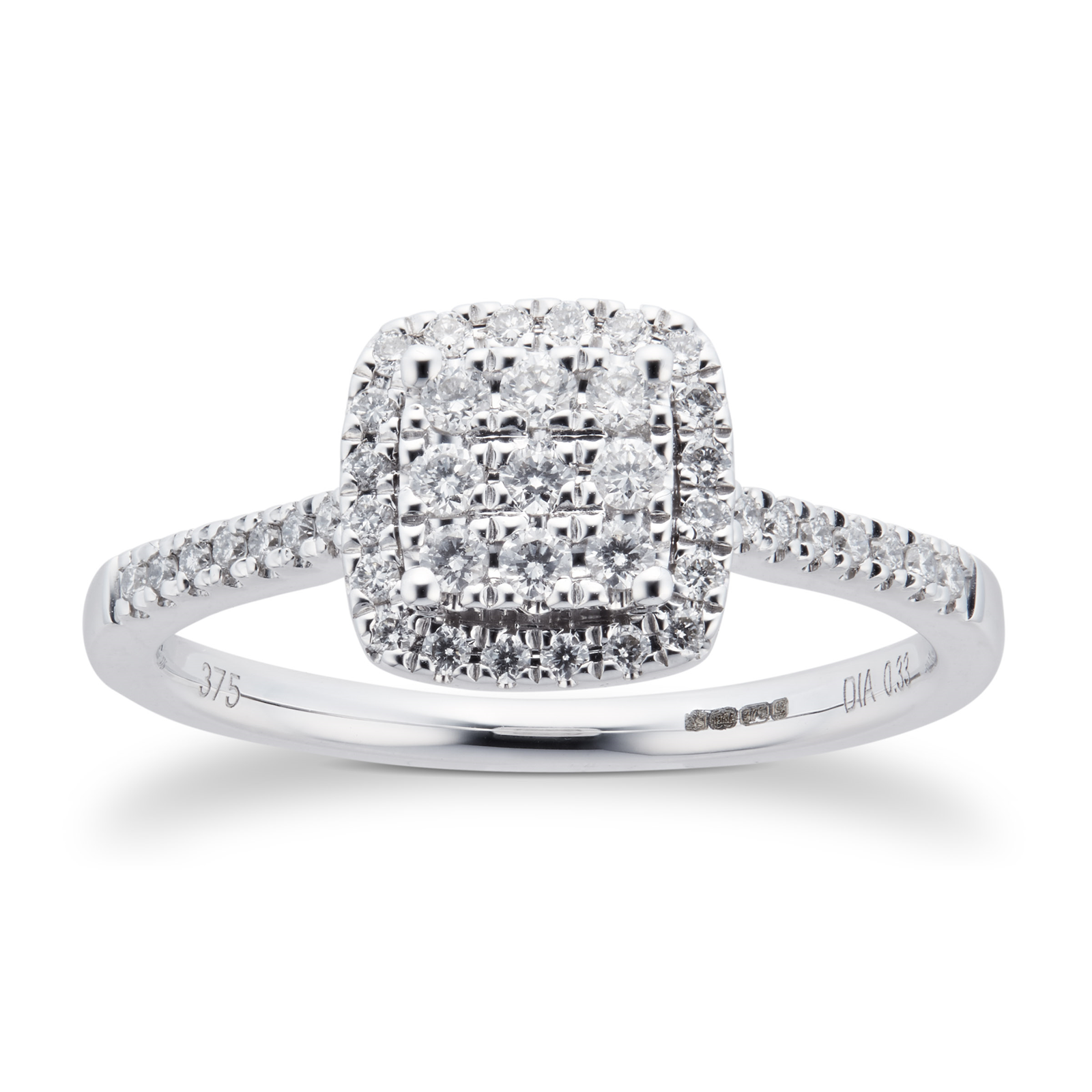 ring diamond dublin cusion of cut shop weldons cushion