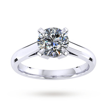 Sweet Belvedere Platinum 0.70ct Diamond Engagement Ring
