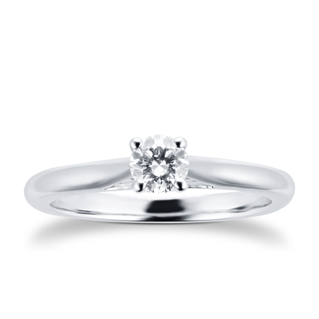 Silhouette 18ct White Gold 0.25ct Diamond Engagement Ring