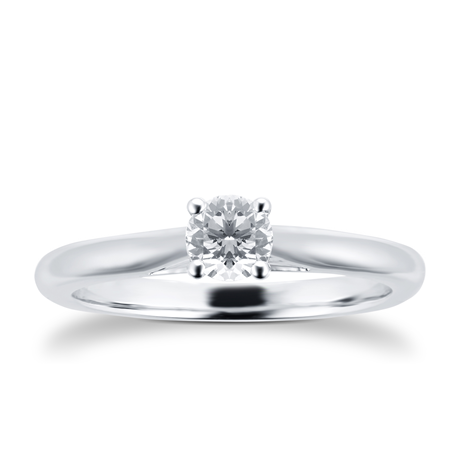 Silhouette 18ct White Gold 0.33ct Diamond Engagement Ring