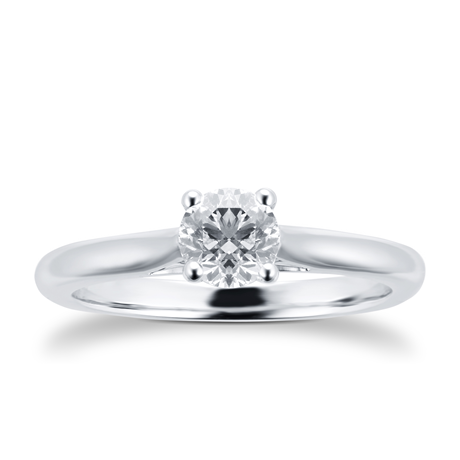 Silhouette 18ct White Gold 0.70ct Diamond Engagement Ring