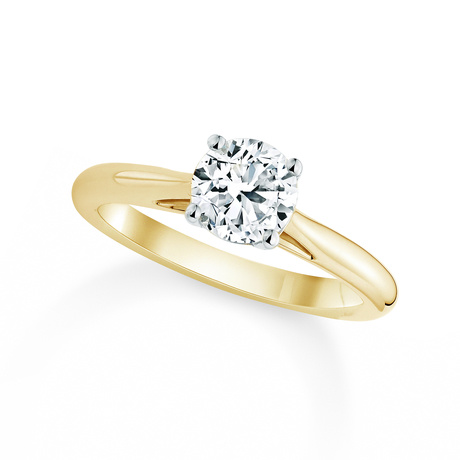 Silhouette 18ct Yellow Gold 1.00ct Diamond Engagement Ring