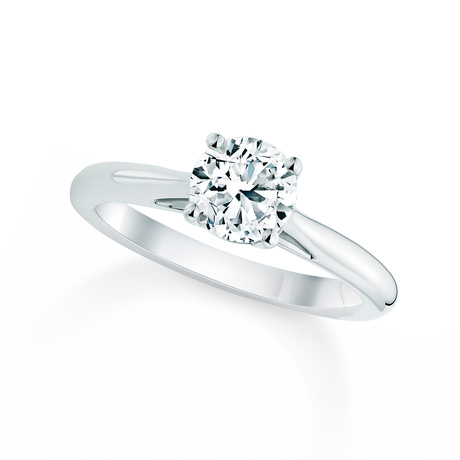 Silhouette 18ct White Gold 1.00ct Diamond Engagement Ring