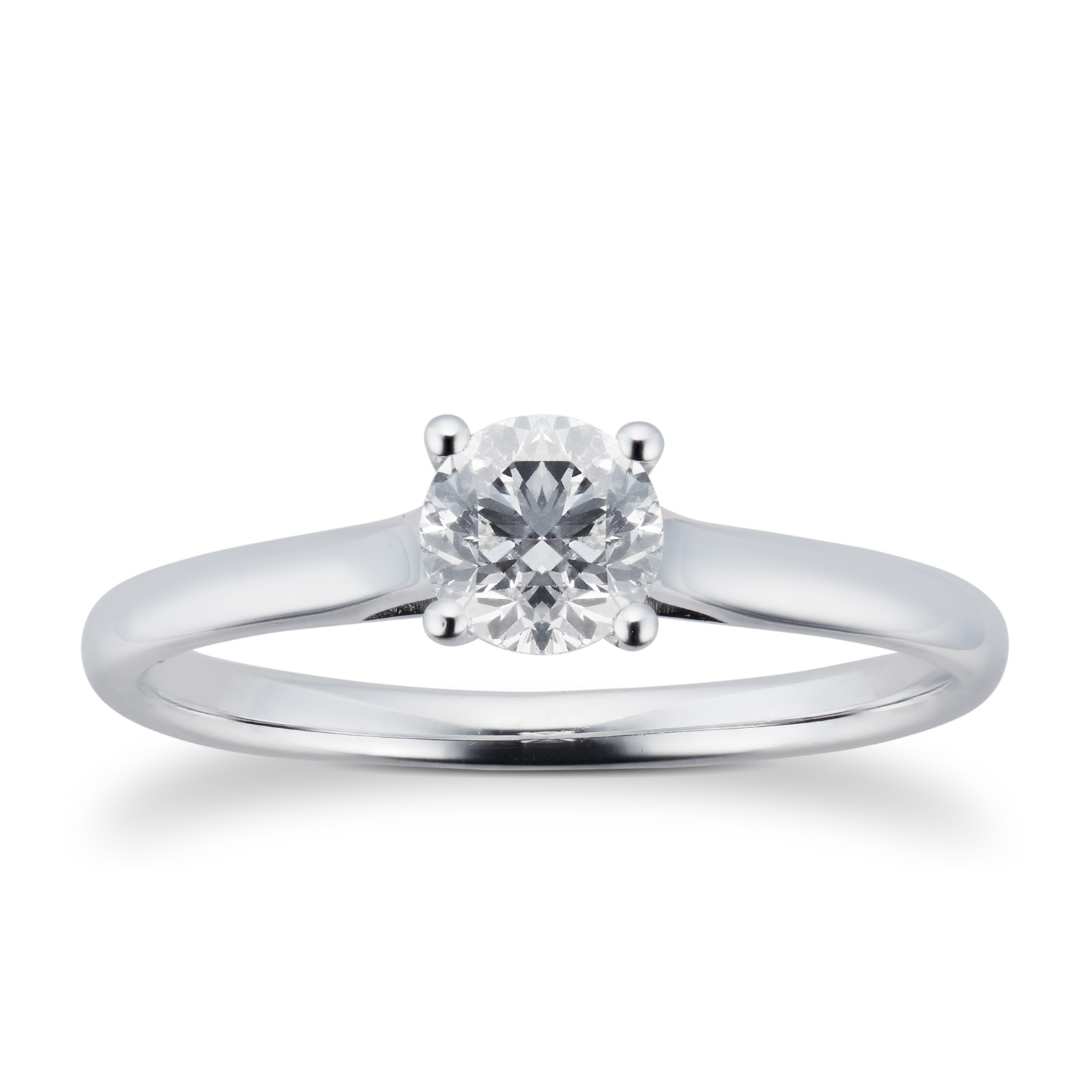 db engagement classic beers ring solitaire platinum jewellery de