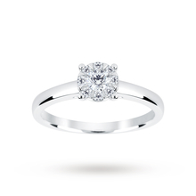 9ct White Gold 0.25 Carat Total Weight Diamond Multi Stone Ring