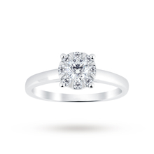 9ct White Gold 0.40 Carat Total Weight Diamond Multi Stone Ring