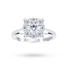18ct White Gold 1.00 Carat Total Weight Diamond Multi Stone Ring