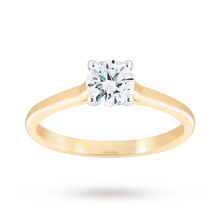 Brilliant Cut 0.70ct 4 Claw Diamond Solitaire Ring In 9ct Yellow Gold