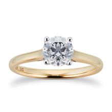 Brilliant Cut 1.00ct 4 Claw Diamond Solitaire Ring In 9ct Yellow Gold