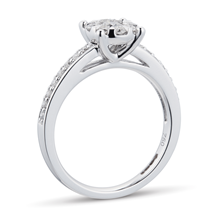18ct White Gold 0.50 Carat Total Weight Diamond Multi Stone Ring