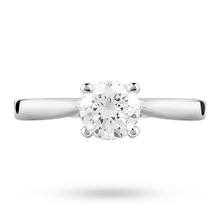 18ct White Gold Brilliant Cut 0.70 Carat 88 Facet Diamond Ring