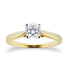 18ct Yellow Gold Brilliant Cut 0.33 Carat Diamond Ring