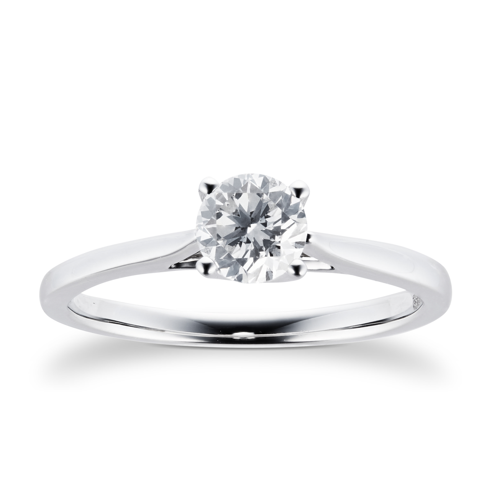 facet carat ring p diamond cut rings platinum brilliant
