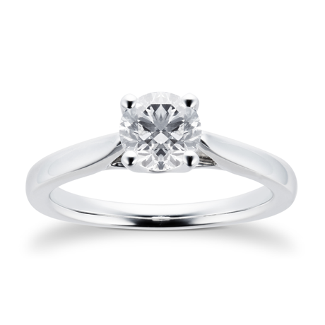 Platinum 0.80ct Brilliant Cut Diamond Engagement Ring