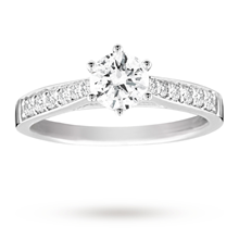 18ct White Gold Brilliant Cut 0.65 Carat 88 Facet Diamond Ring