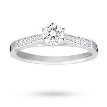 18ct White Gold Brilliant Cut 0.42 Carat 88 Facet Diamond Ring